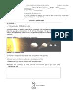 Guía Sistema Solar 3° Básico. Ciencias Naturales