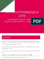 Semana Pedagogica Ensino Fundamental Anos Iniciais