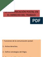 La Comunicación Postal en El Dereco Del Trabajo