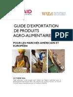 Guide d'Exportation Des Produits Agro-Alimentaires