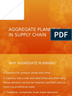 Aggregate Planning in Scm