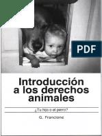 Francione - Introd. a Los Derechos de Los Animales