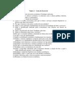 Lista de exercícios de economia para a engenharia.