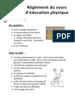 Règlement Éducation Physique