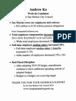 San Marino CalPERS Pension Liability