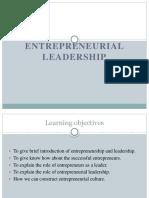 Entrepreneurial Leadership 1