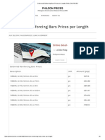 Deformed Reinforcing Bars Prices Per Length _ PHILCON PRICES