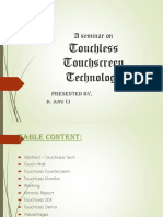 Touchless Touchscreen Technology PPT