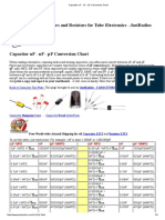 Capacitor UF - NF - PF Conversion Chart