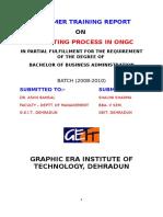 Budgeting Process on Ongc