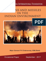 Weapons and Missiles in the Indian Environment