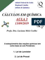 Aula de Cálculos em Química - Estequiometria