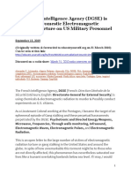 The French Intelligence Agency (DGSE) is involved in Domestic Electromagnetic Radiation Torture on US Military Personnel