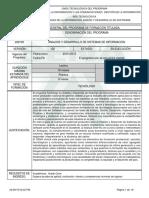 Informe Programa de Formación Titulada ADSI