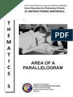 Math 5 Area of Parallelogram