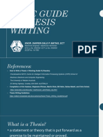 Basic Guide in Thesis Writing