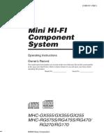 Mini hi-fi sony