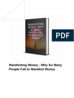 Manifesting Money - Why So Many People Fail to Manifest Money