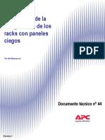 RACK PERDIDAS DE POTENCIA EN PANELES CIEGOS