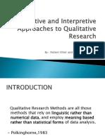 Descriptive and Interpretive Approaches to Qualitative Research