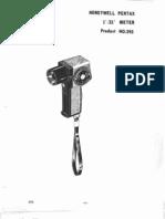 Pentax Spotmeter 1-21 Repair Manual