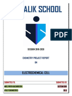 Chemistry Project on Electrochemical cell