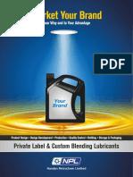 Private Label & Custom Blending Lubricants