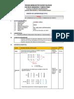Sesion de Aprendizaje Algebra Lineal