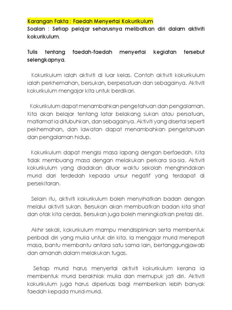 Download Contoh Karangan Fakta Upsr Background Upsrgallery
