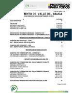 Valle Del Cauca a 30 de Septiembre 2012