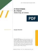 A Historicidade Do Cinema JR