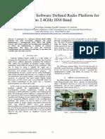 An FPGA-Based Software Defined Radio Platform for the 2.4GHz ISM Band