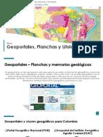 Geoportales, Planchas y Litología