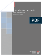 Cours Magistral Introduction Au Droit