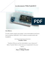 Interface Accelerometer With NodeMCU