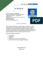 Hoja de Vida José Madrid