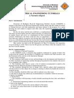 NARRATIVE REPORT - Engineering Tutorials