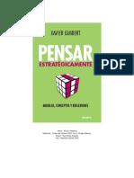 Resumen Del Libro Pensar Estrategicamente, Modelos, Conceptos y Reflexiones de Xavier Gimbert