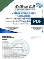 Certificado de Servicio Tecnico