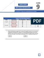 CSO Sample Papers for Class 9