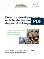 2009 Creer Ou Developper Une Activite de Transformation de Produits Bio