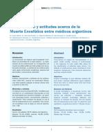 Conocimiento y actitudes acerca de la muerte encefalica en medicos argentinos