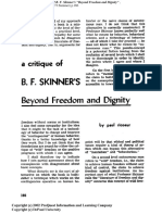 Ricoeur - A Critique of B. F. Skinner's 'Beyond Freedom and Dignity'