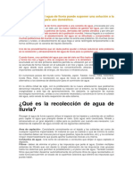 SISTEMA DE RECOLECCIÓN AGUA LLUVIA info
