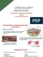 Biología Celular y Molecular i Introducción 2019 b