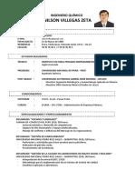 Curriculum Vitae - ING. NILSON VILLEGAS ZETA