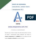 Formato Amparo Contra Alcoholímetro Torito