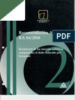 Recomendación AMAAC RA 04 2010 Resistencia de las mezclas.pdf