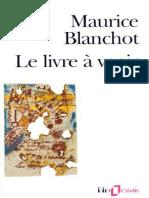Le Livre a Venir - Maurice Blanchot