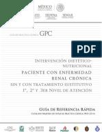 Intervención dietético nutriconal en paciente con enfermedad renal crónica